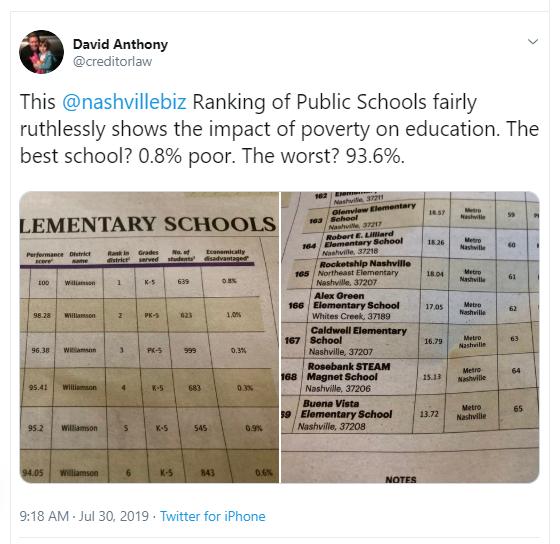 school tweet
