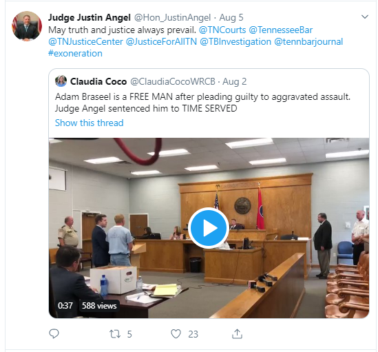 judge angel tweet